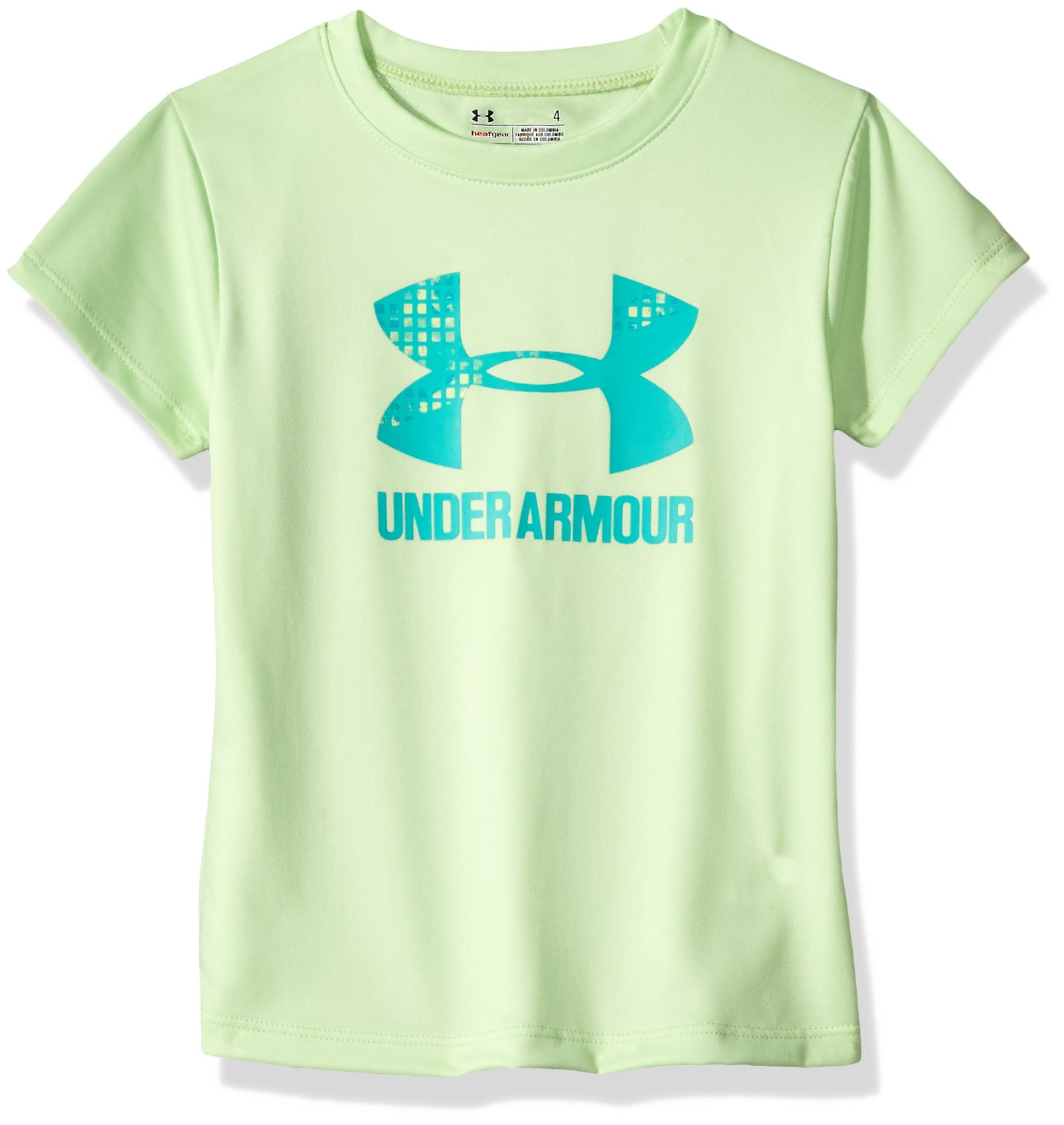 Under Armour Girls' Big Logo T-Shirt, Summer Lime, 4