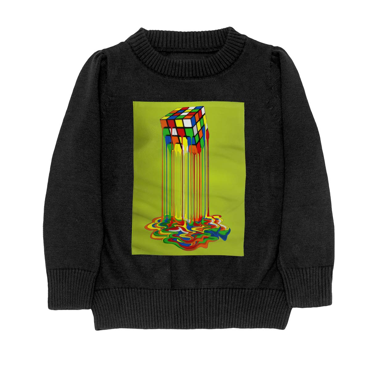 Rainbow Abstraction Melted Rubix Cube Casual Adolescent Boys /& Girls Unisex Sweater Keep Warm