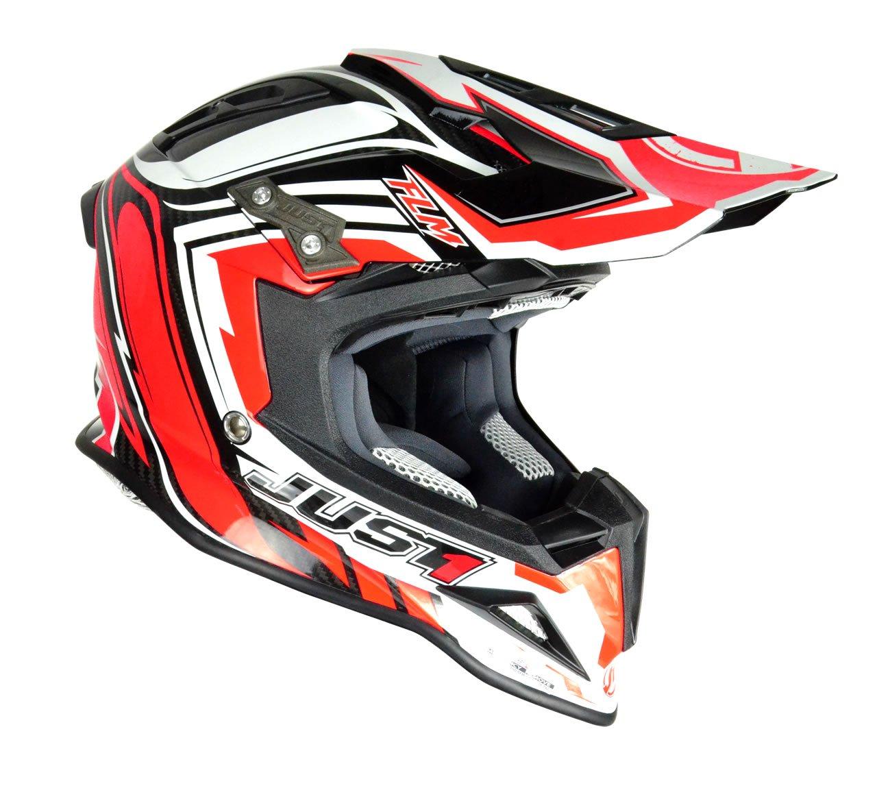 Just 1 Helmets J12 Casco de Motocross, Negro/Naranja, S: Amazon.es: Coche y moto