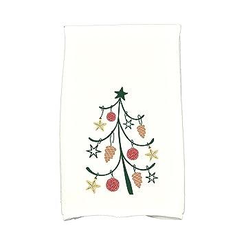 E por diseño Coastal Árbol de Navidad piñotas geométrico impresión toalla de cocina: Amazon.es: Hogar