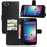 Wallet Case for Blu Energy X2, Turpro PU Leather Wallet Case Flip Cover with Stand and Credit Card Holder for Blu Energy X 2 (Black)
