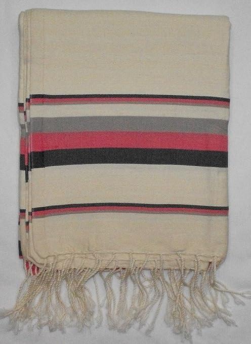 Bora Rosa -100% algodón Fouta toalla de baño, 100 cm x 200 cm