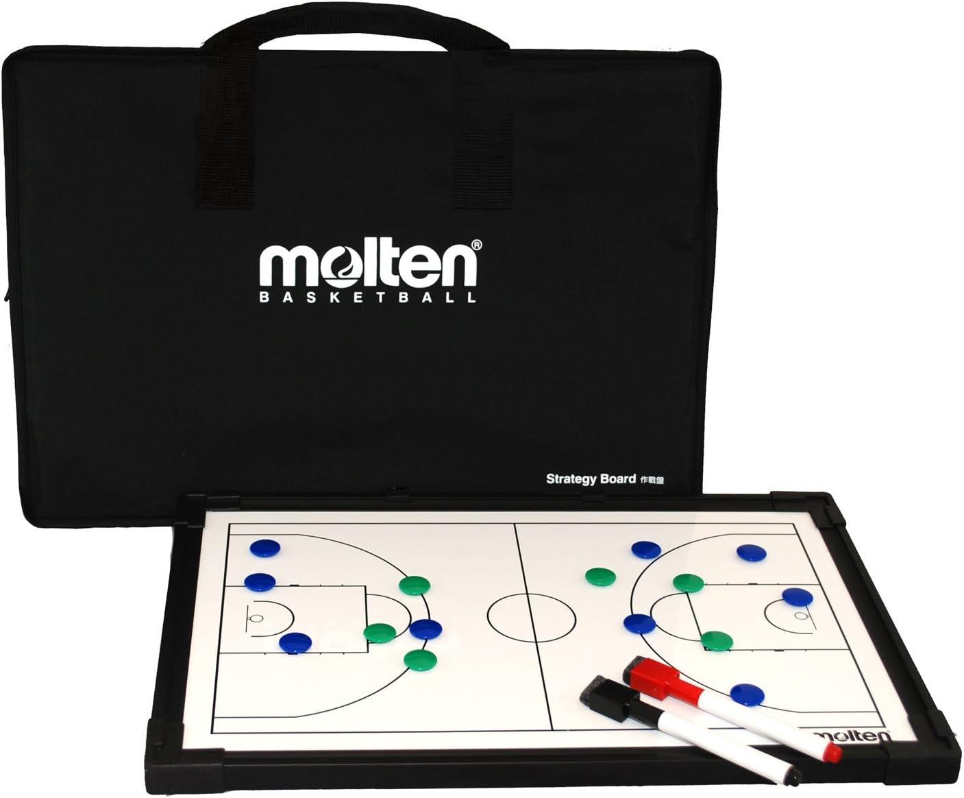 MOLTEN – Pizarra de jugadas de Baloncesto, Color Negro, un tamaño ...