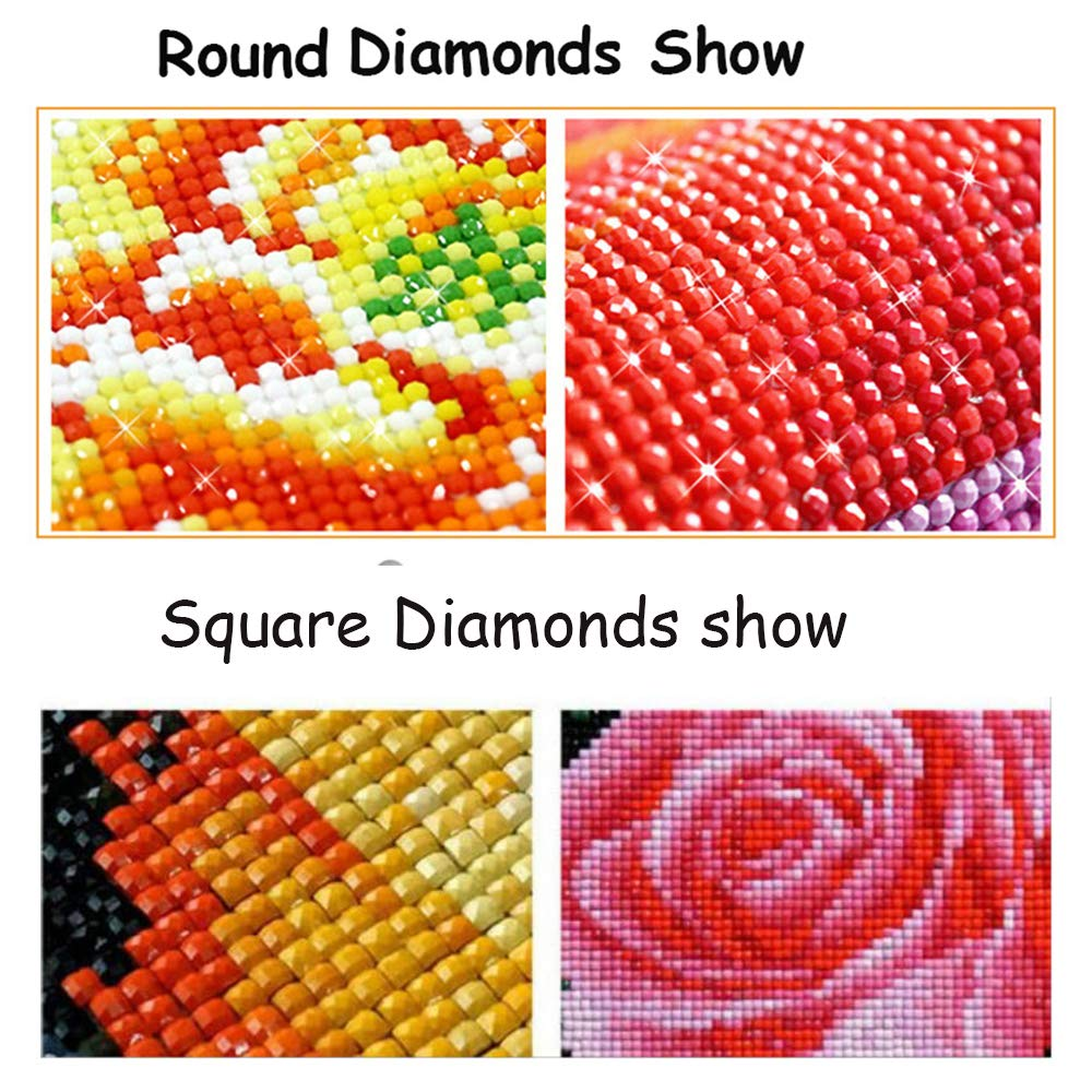 CRPSEN Diamond Painting Accessory Wholesale Square Rhinestone Resin Diamonds 447 Colors/Bag can Choose Color Accessory Blank Canvas, Sales for 1 Bag=200 Pieces (447 Bag) by CRPSEN