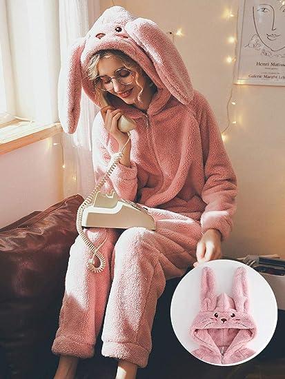 pijama invierno mujer polar,Pijama de una pieza de terciopelo ...