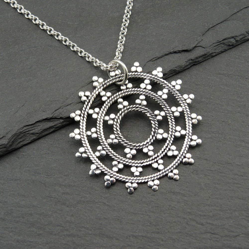 925 Silver Mandala Pendant