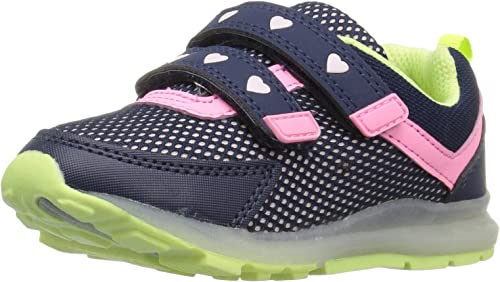New Baby Mesh Sneakers Light Up Shoes Black Navy Grey Infant Toddler Size 2 to 9