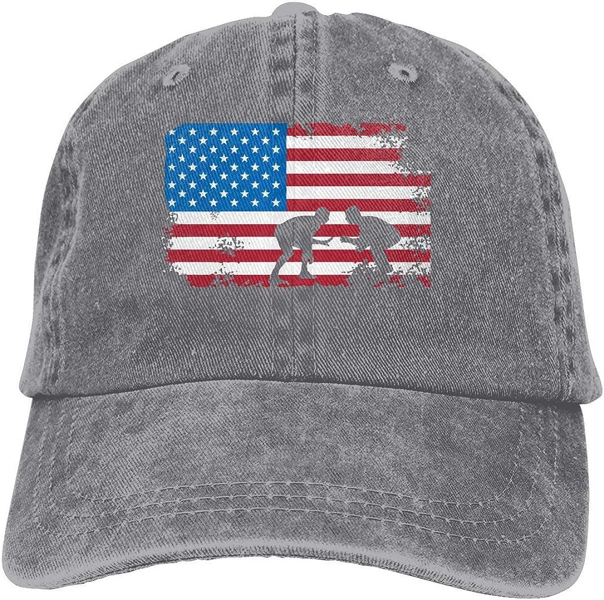 Winterwang - Gorro de béisbol con diseño de bandera americana para hombre y mujer