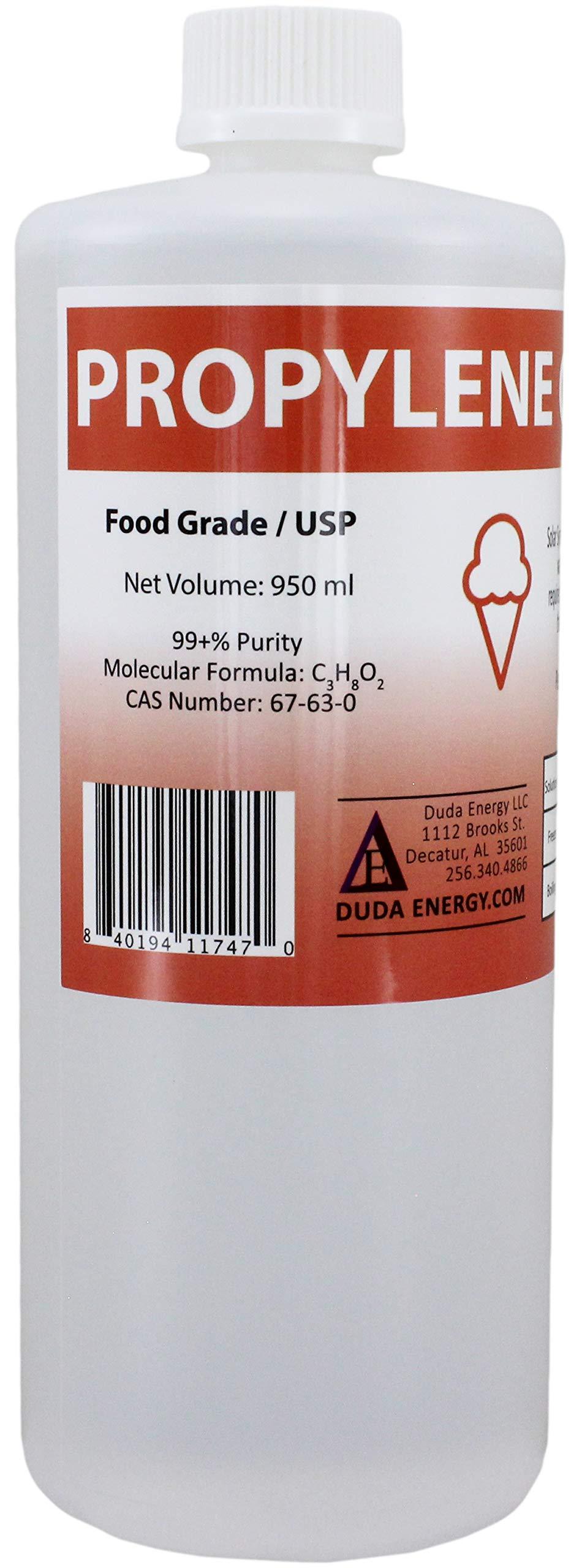 Duda Energy Pg950 1 L Bottle 1 Quart Propylene Glycol Food Grade Usp 99 5 Pure Concentration With Child Safety Cap Buy Online In Grenada At Grenada Desertcart Com Productid 10782218