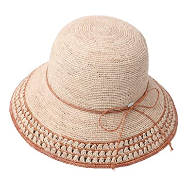 8bee3c5059b Image Unavailable. Image not available for. Color  Raffia Straw Sun Hat  Fedora for Women Summer Beach ...