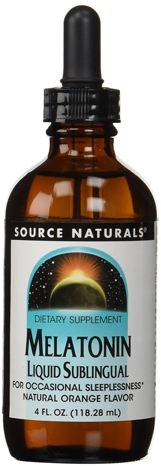 Amazon.com: Source Naturals Sleep Science Melatonin Liquid Sleep Support - Orange Flavor - Fast-Acting Sublingual - 4 oz: Health & Personal Care