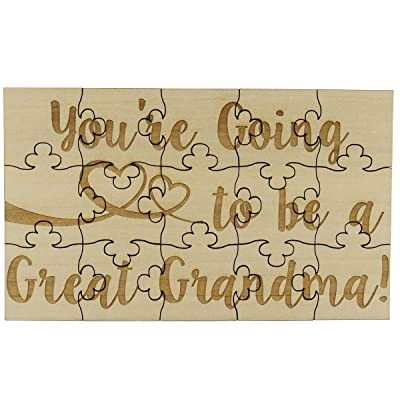You're Going to Be a Great Grandma 15 Piece Basswood Jigsaw Puzzle, Surprise Pregnancy Announcement: Toys & Games
