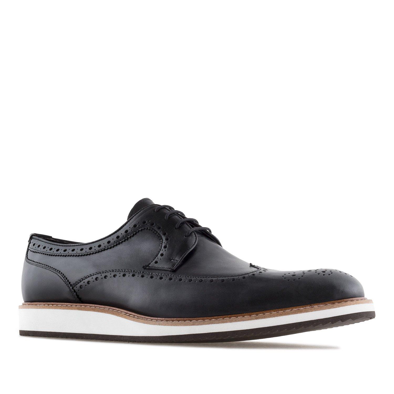 Andres Machado 6331.Zapato Estilo Oxford en Piel.Hombre.Tallas Grandes. 46/50. Made In Spain 48 EU|Lavato Negro