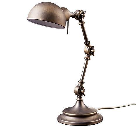 Lámpara de mesa Ellisen (Retro, Vintage) en Bronce hecho ...