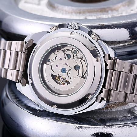 FLOVEME Reloj de Pulsera para Hombre Automático Mecánicos de ...
