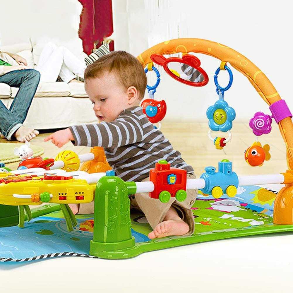 ベビージム ベビーペダルピアノ 赤ちゃんのおもちゃ 01歳 赤ちゃんと一緒に成長する 出産祝い   B07TLRFNSS