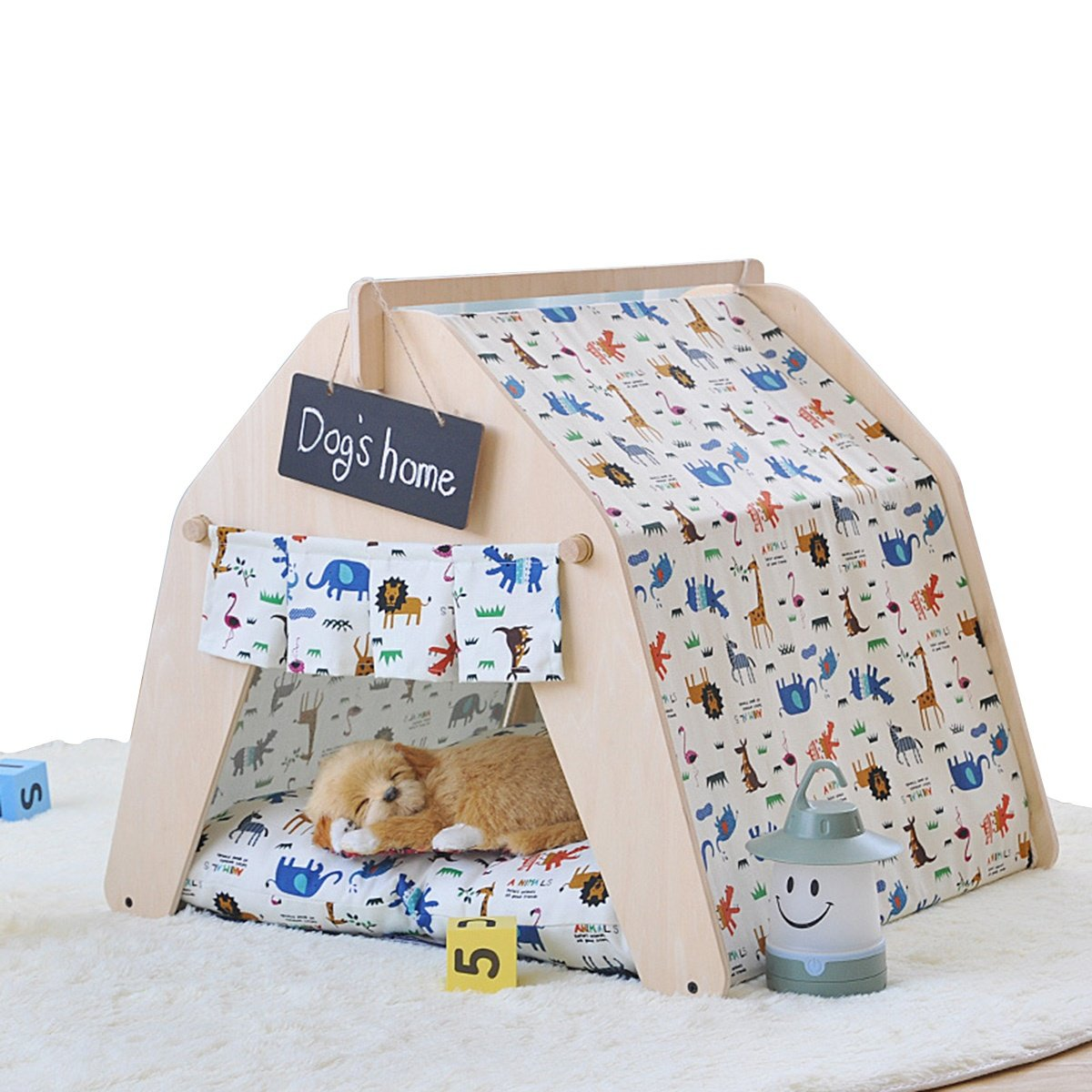 L shanzhizui DIY pet house Pet tent Dog house Cat nest Dog bed Spring and summer Autumn And Winter Four seasons available Removable and washable, L