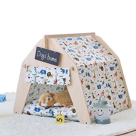 shanzhizui Casa de Mascotas DIY Tienda de Mascotas Casa de Perro Nido de Gato Cama de