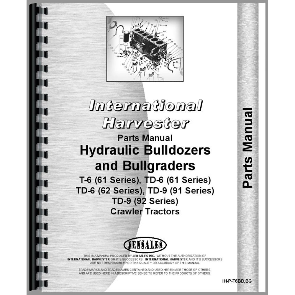 Amazon.com: New International Harvester TD6 Crawler Series Parts Manual:  Industrial & Scientific