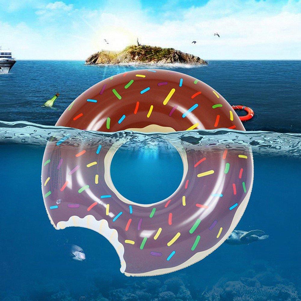 Fochea Flotador Inflable Flotador Donut 70cm Para Piscina Playa (S, Café): Amazon.es: Juguetes y juegos