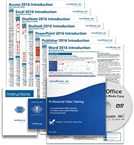 Learn Microsoft Office 2016 DELUXE CPE Training Tutorial Package- Video Lessons, PDF Instruction Manuals, Printed and Laminated Quick Reference Guide, Testing Materials, and Certificate of Completion