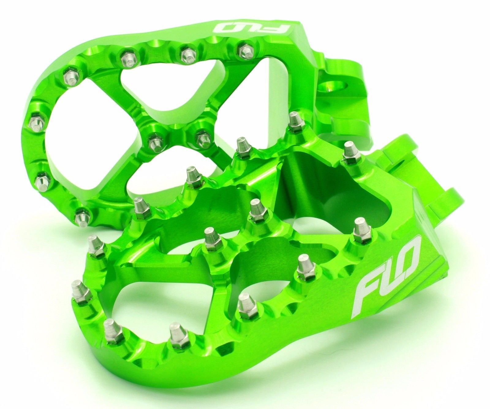 Flo Motorsports Green Kawasaki KXF250/450 Foot Pegs Fpeg-792Grn by Flo Motorsports