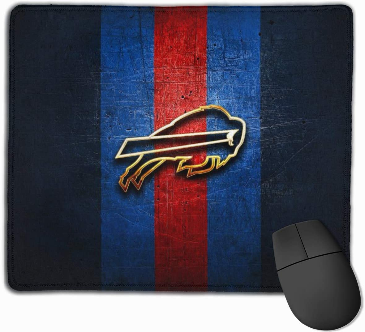 9.8 Inches X 11.8 Inches Kanteband Buffalo Bills Non-Slip Rubber Mouse Pad Football Fan Mouse Pad