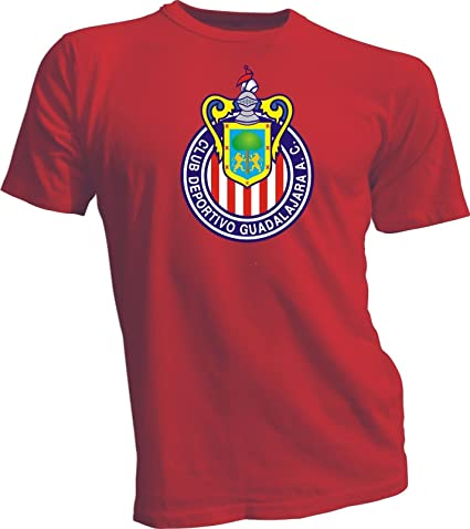 CLUB DEPORTIVO GUADALAJARA CHIVAS Mexico FMF Soccer RED Size T-SHIRT Camiseta