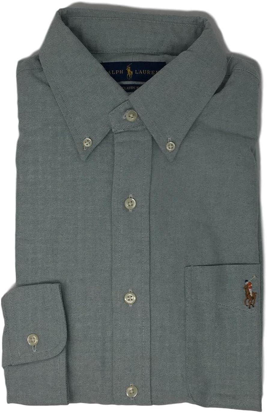 GreenBckt, Small Polo Ralph Lauren Mens Classic Fit Buttondown Oxford Shirt