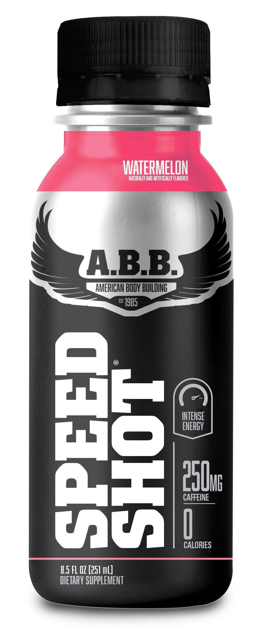 ABB Speed Shot, Watermelon, Energy Drink with 250mg of Caffeine, 12 Count