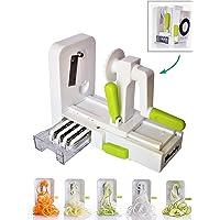 Vegetable Spiralizer, Foldable Premium 5 Blade Spiralizer Zucchini and Vegetable Spiral Slicer. Specially Made for Vege…