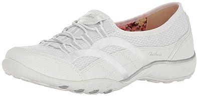 Skechers Sport Women's Breathe Easy Faithful Fashion Sneaker,White,5.5 ...