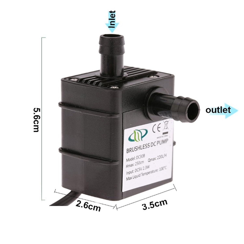 Reusious Pompe à eau submersible pour Fontaine Aquarium