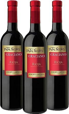 Pata Negra Graciano - Vino Tinto D.O Rioja - Pack de 3 Botellas x ...
