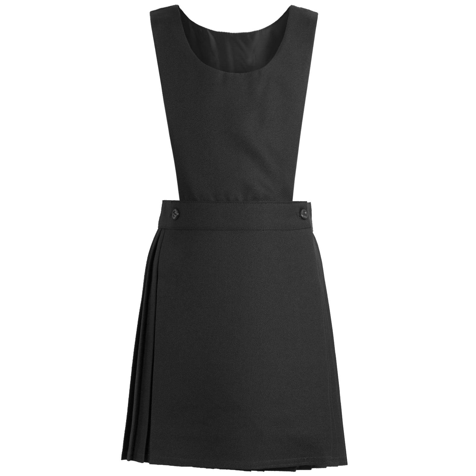 3 Pleat with Waistband Pleated Design School Uniform Charcoal Grey Ages 4-13 Girls School Pinafore