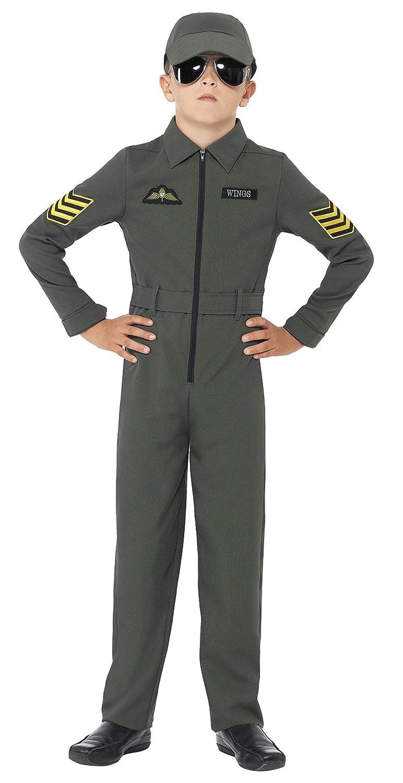 Smiffys - Disfraz de aviador para niños, color caqui (41091S ...