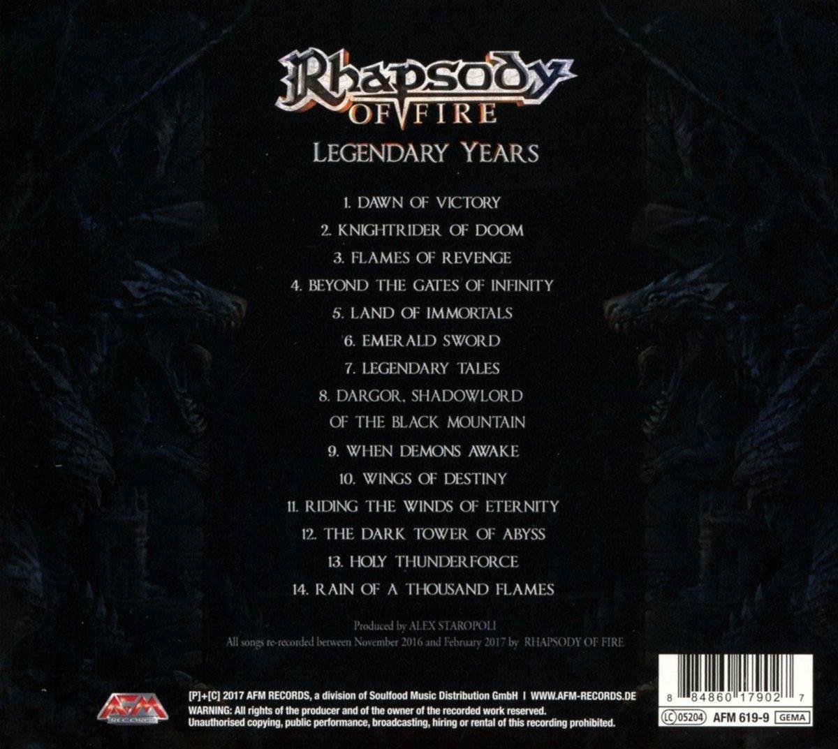 rhapsody of fire - legendary years (2017) download