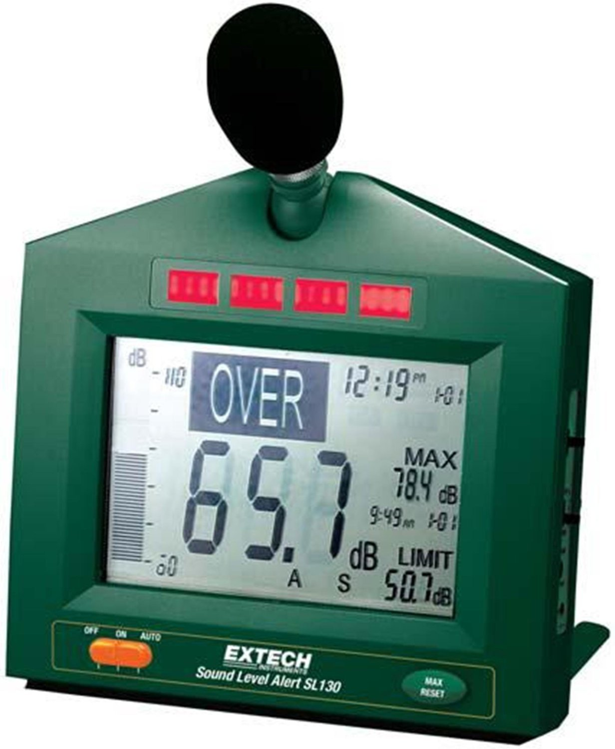 Extech SL130G-NIST Sound Level Alert With Alarm and NIST