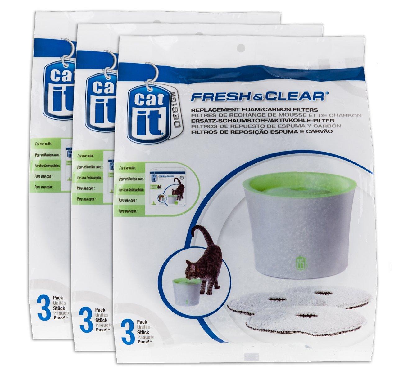 Catit filtro de limpieza Recambio 3 unidades para 3 L 901100 ...