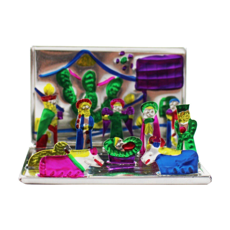 Mini Belén cm, 5 Decorativa de Navidad decoración Sagrada Familia ...