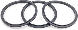CloudCUP Seal Ring Gaskets with Lip, Replacement Gasket for Blender, Compatible with Nutribullet 900/600 Series (Pack of 3)