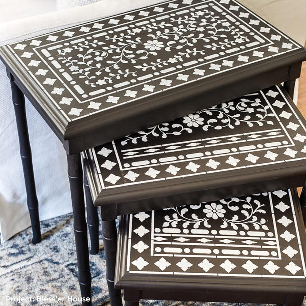 DIY Bone Inlay Designs for Furniture Indian Inlay Stencil by Kim Myles