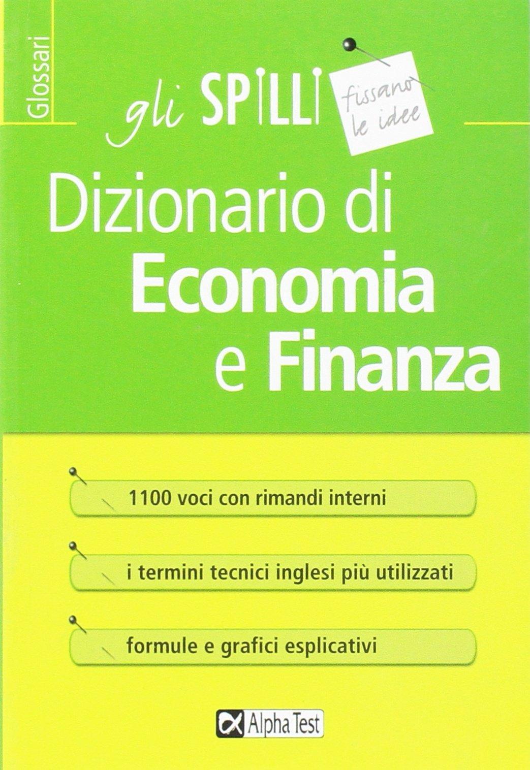 cd88b10cf4 Amazon.it: Dizionario di economia e finanza - Carlo Tabacchi, Daniele  Tortoriello - Libri