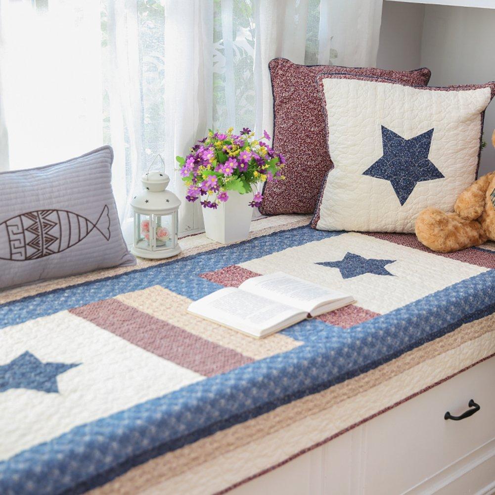 Non-slip cotton tatami cushion bay window cushion cover seats sill pad bench mat sofa mat rug for living room bedroom -A 90x160cm(35x63inch)