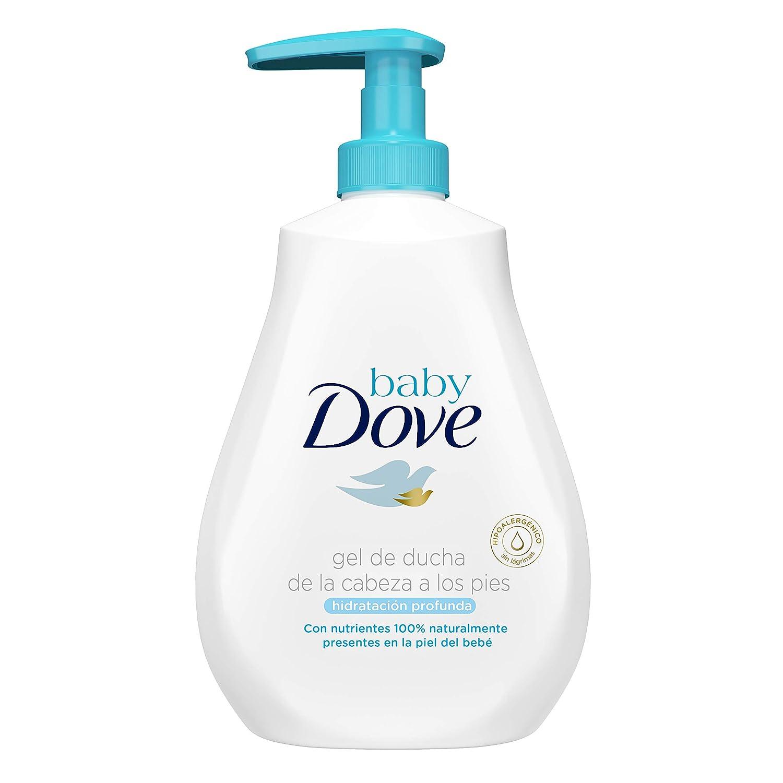 Gel de baño Baby Dove hidratación profunda de la cabeza a los pies 400ml - Pack de 6: 2400ml Unilever Spain