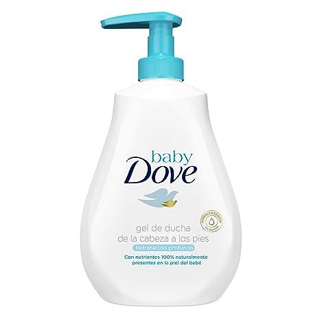 Gel de baño Baby Dove hidratación profunda de la cabeza a los pies 400ml - Pack