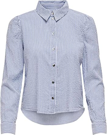 ONLY Camisa de mujer a rayas.