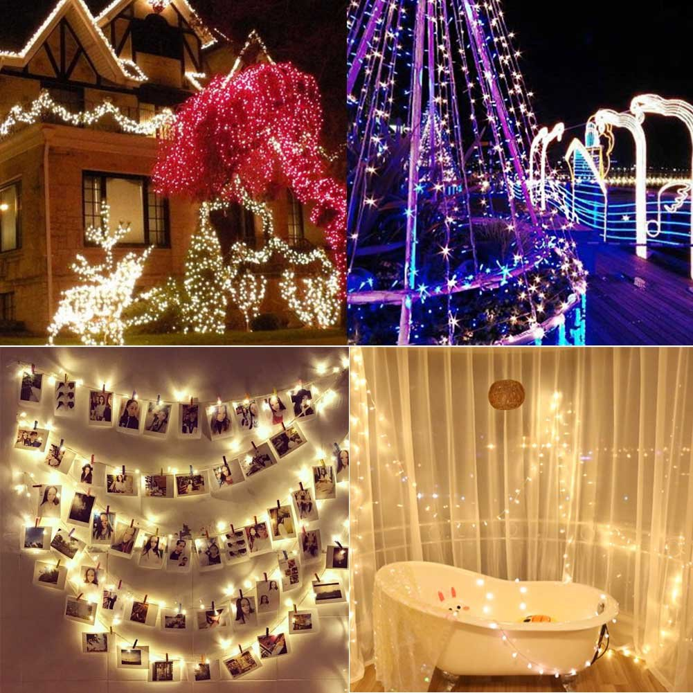 Lily's Gift LED String Lights with 66ft 200LED 8 Modes Irregular Firefly Starry String Light for Patio, Garden, Yard, Square, Chritmas, Wedding Decor (Warm Light) by Lily's Gift (Image #7)