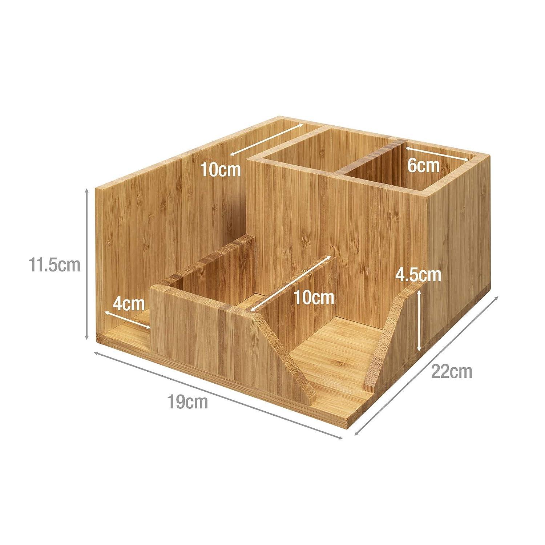 woodluv 5/sezioni Regolabile Punti scrivania organizzatore cancelleria per Ufficio