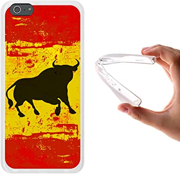 WoowCase Funda para iPhone 6 Plus | 6S Plus, [iPhone 6 Plus | 6S Plus ] Silicona Gel Flexible Bandera España y Toro, Carcasa Case TPU Silicona: Amazon.es: Electrónica